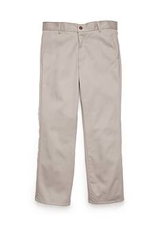 IZOD Basic Flat Front Twill Husky Pants Boys 8-20