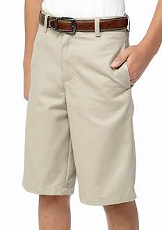 IZOD Uniform Flat Front Slim Shorts boys 8-20