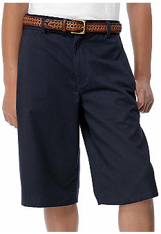 Izod Uniform Slim Shorts Boys 8-20