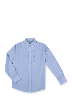 IZOD Basic Blue Stripe Woven Shirt Boys 8-20