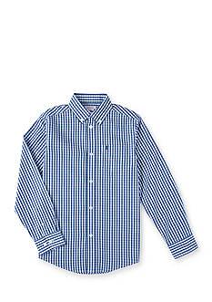 IZOD Gingham Woven Shirt Boys 8-20