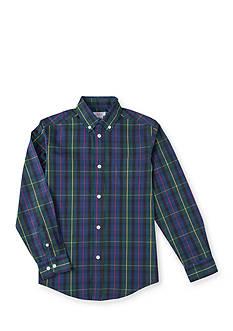 IZOD Plaid Tartan Woven Shirt Boys 8-20
