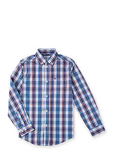 IZOD Roadmap Plaid Woven Shirt Boys 8-20