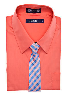 Izod Dress Shirt & Tie Boys 8-20