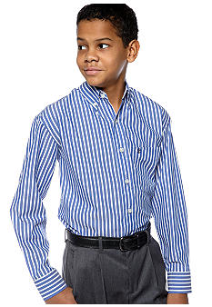 Izod Check Oxford Shirt Boys 8-20