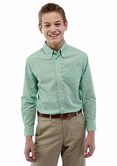 Izod Long Sleeve Solid Oxford Shirt Boys 8-20