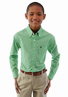 Izod Long Sleeve Small Stripe Woven Shirt Boys 8-20
