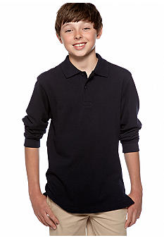Izod Long Sleeve Uniform Polo Boys 8-20