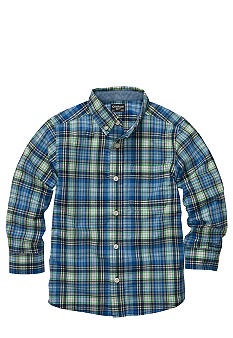 OshKosh B'gosh Plaid Button Front Woven Shirt Boys 4-7
