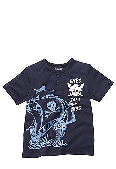 OshKosh B'gosh Navy Pirate Henley Shirt Boys 4-7