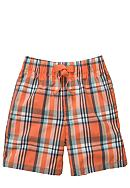 OshKosh B'gosh® Orange Plaid Poplin Shorts Boys 4-7