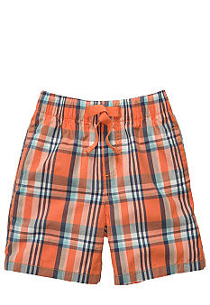OshKosh B'gosh Orange Plaid Poplin Shorts Boys 4-7