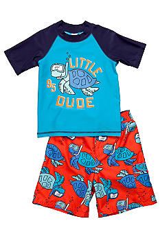 OshKosh B'gosh Little Dude Turtle 2-Piece Swim Set Boys 4-7