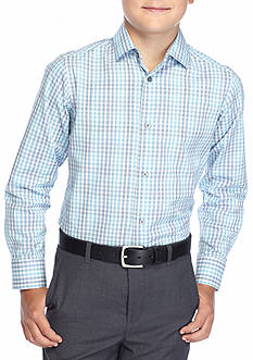 Calvin Klein Check Woven Shirts Slim Fit Boys 8-20