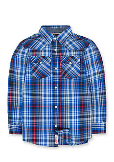 Levi's Barstow Western Plaid Shirt Boys 4-7