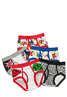 Handcraft 5 Pk Justice League Heroes Briefs  Boys 4-7