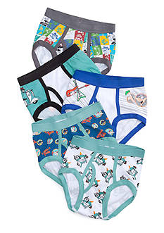 Disney 5-Pack Phineas and Ferb Underwear Boys 4-7