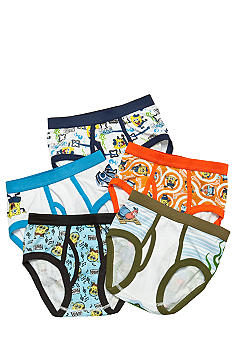 Handcraft 5 Pk Spongebob Underwear Boys 4-7