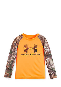 Under Armour Logo Raglan Long Sleeve Tee Boys 4-7