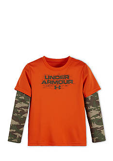 Under Armour Logo Slider Tundra Camouflage 2Fer Tee Boys 4-7