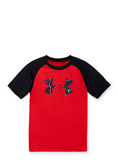 Under Armour Short Sleeve Map Jagger Big Logo Tee Boys 4-7