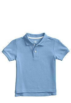 J Khaki Short Sleeved Solid Polo Boys 4-7