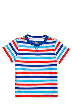 J Khaki Basic Striped Tee Boys 4-7