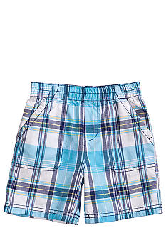 J Khaki Plaid Pork Chop Short Boys 4-7