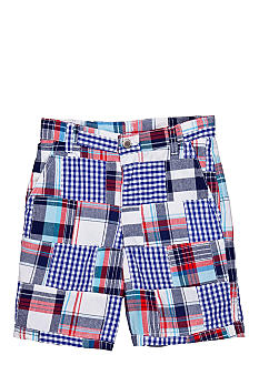 J Khaki Patchwork Shorts Boys 4-7