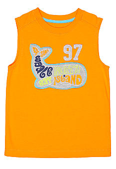 J Khaki Muscle Tank with Chest Stitch Boys 4-7