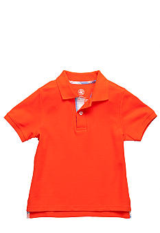 J Khaki Seersucker Placket Polo Boys 4-7