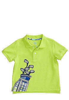 J Khaki Polo with Graphic Boys 4-7