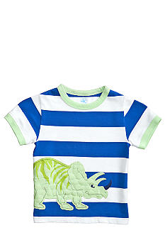 J Khaki Novelty Stripe Crew Boys 4-7
