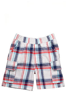 J Khaki Plaid Cargo Shorts Boys 4-7