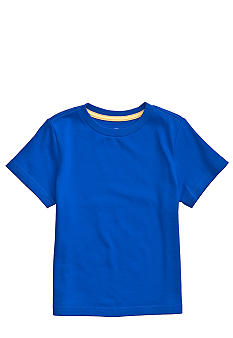 J Khaki Blue Solid Crew Boys 4-7