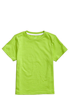 J Khaki Lime Solid Crew Boys 4-7
