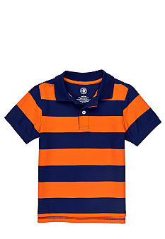 J Khaki Striped Polo Boys 4-7