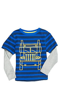 J Khaki Striped 2-In-One Tee Boys 4-7