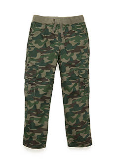 J. Khaki Pull-On Camo Cargo Pants Boys 4-7