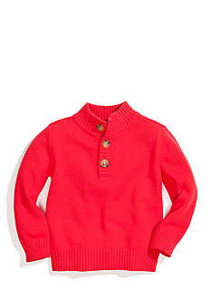 J Khaki™ 1/4 Button Cable Knit Pullover Boys 4-7