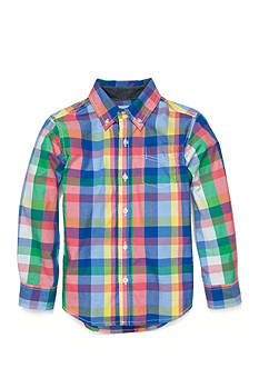 J Khaki™ Long Sleeve Woven Plaid Shirts Boys 4-7
