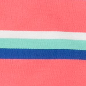 Youth Polo Shirts: Coral/Aqua J Khaki™ Short Sleeve Striped Polo Boys 4-7