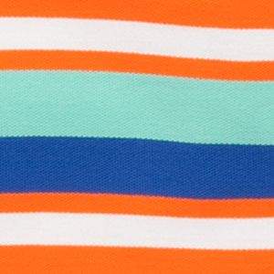 Youth Polo Shirts: Orange/Blue J Khaki™ Short Sleeve Striped Polo Boys 4-7