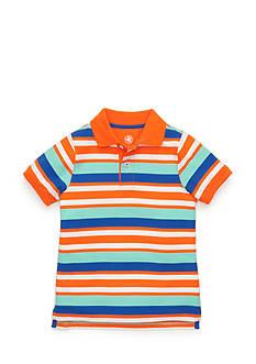 J Khaki™ Short Sleeve Striped Polo Boys 4-7