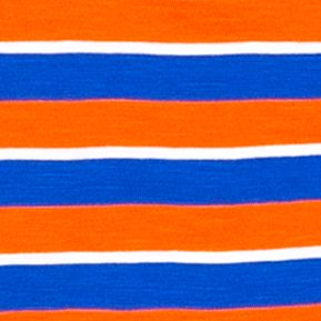 Boys St. Patricks Day Shirts: Orange/Blue J Khaki™ Short Sleeve Stripe Slub Tee Boys 4-7