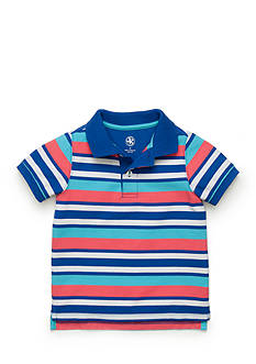 J Khaki™ Short Sleeve Stripe Polo Boys 4-7