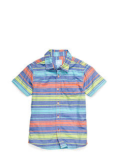 J Khaki™ Oxford Stripe Woven Shirt Boys 4-7
