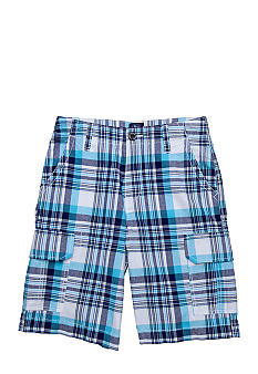 J Khaki™ Plaid Cargo Short Boys 8-20