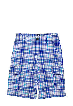 J Khaki Plaid Cargo Short Boys 8-20
