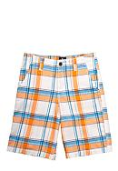 J Khaki™ Flat Front Plaid Short Boys 8-20